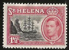 1949 ST. HELENA INSEL SCHIFF KING GEORGE VI 1 1/2 PENCE  UNGEBRAUCHT MARKE