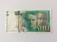 Billet français 500 F Marie Curie 1994 Voir Photo