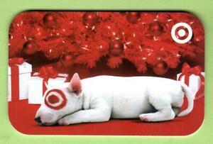 TARGET Bullseye Sleeping By Christmas Tree 2006 Gift Card ( $0 )