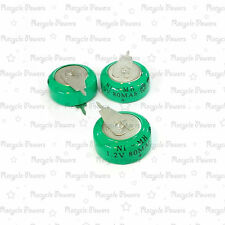 3 pieces Ni-MH 80mAh 1.2V button Rechargeable Battery backup power with tab