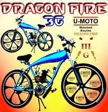 "NEW SUPER POWER 80CC DIY 2-STROKE MOTORIZED BICYCLE KIT WITH 26"" GAS TANK BIKE!"