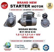 FOR NISSAN MICRA K11 K12 C+C 1.0 1.2 1.3 1.4 + 16V 1992-ON STARTER MOTOR 8Teeth