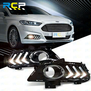 Pair Driving Fog Light Support Bracket fit for Ford Fusion Mondeo 13-15 Black