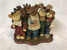Boyds Bears Bearyproud & Pals.United We Stand 227812 America Usa Flag Friend Le