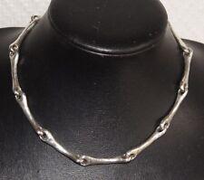 collier ras de cou AGATHA en métal argenté