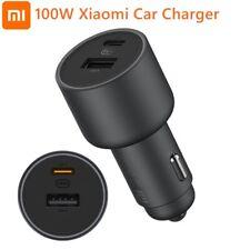 Carregador De Carro Xiaomi 1A1C 100W 5V 3A Dual Usb Carregamento rápido Adaptador De Carregador Qc