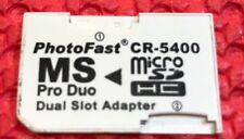 CR-5400 Adattatore Dual Micro Sd a PRO DUO Memory Stick ideale per PSP
