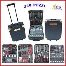 Kit valigia trolley completa attrezzi utensili valigetta alluminio cassetta *