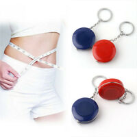 Retractable Body Measuring Ruler Keychain Sewing Cloth Tailors Tape Measure 1_QA