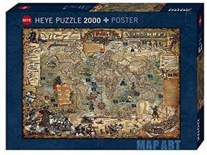 Heye 2000 Piece Jigsaw Puzzle - Map Art: Pirate World
