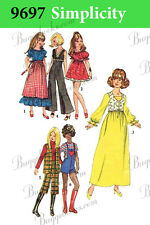 Simplicity 9697 - 11 1/2 inch doll clothes sewing patterns - barbie, etc