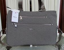 Kipling Julianna Quilted Carryall Tote Commuter Diaper Travel Bag Gray NWT