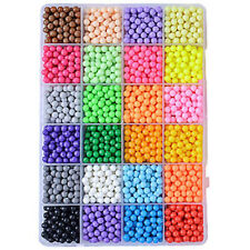 Diy Water Fuse Beads Refill in 24 Separate Candy Color Packing Aqua Beads 3200X