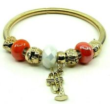BRAND NEW COMFORT FIT STRETCH BRACELET WITH 8 CHARMS MUSIC THEME