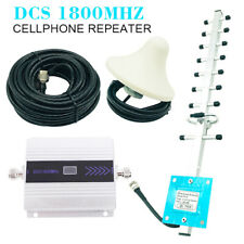 4G 1800MHz LTE DCS Mobile Signal Booster GSM Repeater LTE Amplifier + Yagi