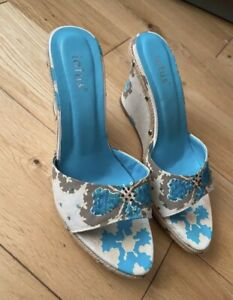 Womens Size 6 Lotus Wedges Sequins Studs