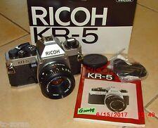 RICOH KR-5;  ANALOGER FOTOAPPARAT-SPIEGELREFLEXKAMERA (G00048)
