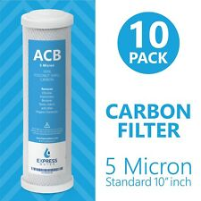Activated Carbon Block Water Filter Replacement – 10 inch 5 Micron –  ACB 10 Pac