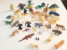 Vintage Plastic Toy Wildlife Zoo Farm Dinosaur Animals lot of 44 (1970s - 90s)