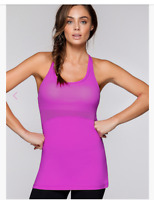 AUTH NWT LORNA JANE Jess Excel Tank Racer Back Top Support NEON FUCHSIA $66