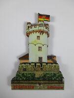 Rüdesheim Adlerturm Holz Souvenir Magnet,Germany Deutschland,Neu