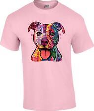 Pastel Pitbull Pit Bull Dog Patchwork T-Shirt