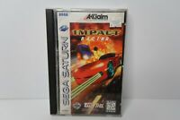 Sega Saturn Impact Racing Video Game In Box and Complete