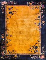 "8'11""' x 11'9"" Magnificent Antique Art Deco Chinese Oriental Rug, #17093"