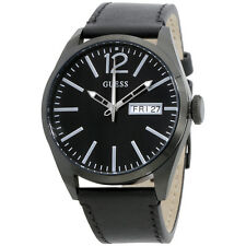 GUESS W0658G4 Men's Dress Sport Watch Leather Strap Stainless Steel Case