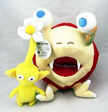 "2pcs Pikmin Games Bulborb Yellow Flower & Chappy Plush Toy Doll 10.5"" Great Gift"