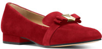 $120 size 7.5 Michael Kors Caroline Maroon Suede Loafers Womens Dress Shoes