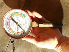 Vintage Pow'r Lux Compression Tester Gauge Steampunk re purpose Gale Hall Engine