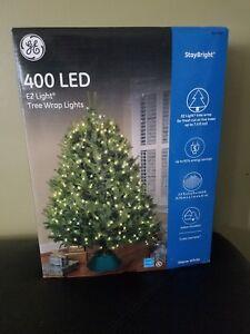 New NIB GE staybright tree wrap 400 LED lights indoor outdoor venue wedding nice