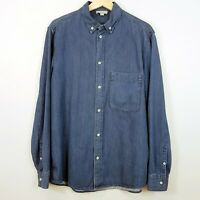 COS Mens Size S Blue Button Down Denim L/S Shirt