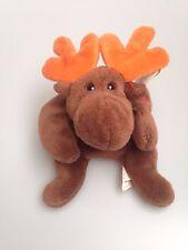 Coleccionable retirado TY Beanie Baby Chocolate Moose el 27 de abril de 1993 con etiquetas