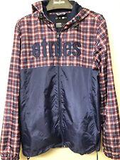 etnies sweater jacket hoodie size L nylon full zip