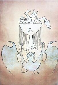Wifredo Lam - La sensualité de la femme des caraibes, incisione 53,5x38 1982