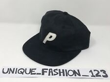 PALACE SKATEBOARDS FW16 PAL SUEDEY BLACK STADIUM 6 PANEL CAMP CAP P HAT