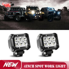 2x 4inch LED Work Light 200W Spot Flood Combo Dual Row as fog/driving lights