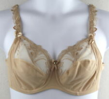 Alegro 9006-A 38DD Nude Daylight Orchid 3 Part Cup Unlined Lace Demi UW Bra NEW