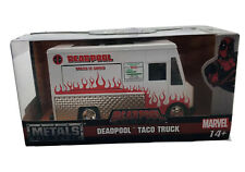 Jada Toys Deadpool Taco Truck Metals Die-Cast Collectible Toy Vehicle 1/24 New