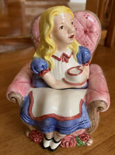 Fitz & Floyd 1992 Alice In Wonderland Sugar Bowl Or Trinket Box, Vintage Retired