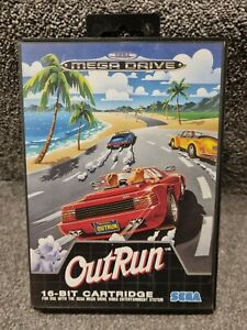 Outrun Sega Megadrive Game Complete with manual
