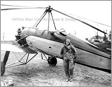 Photo: Amelia Earhart With Autogiro After World Altitude Record, April, 1931