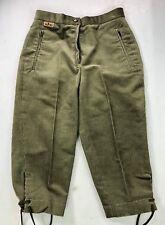 Vintage ELHO Cross Country Ski Breeks Pants Green Corduroy Made in Germany NWT