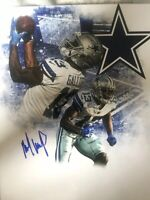 MICHAEL GALLUP SIGNED DALLAS COWBOYS 8x10 Photo AUTographed Gdst Holo F