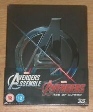 Avengers Assemble / Age of Ultron (blu-ray 3D & 2D) Steelbook. NEW & SEALED (UK)