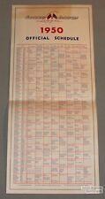 Original 1950 Canadian American Baseball League Schedule