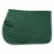 Tough 1 EquiRoyal Square Quilted Cotton Comfort English Saddle Pad Hunter Green