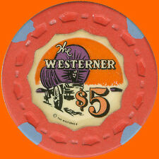 WESTERNER $5 1954 CASINO HOUSE SMALL CROWN CHIP LAS VEGAS NV FREE SHIPPING